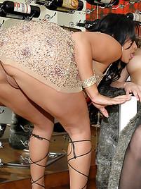 Big ass booty upskirt